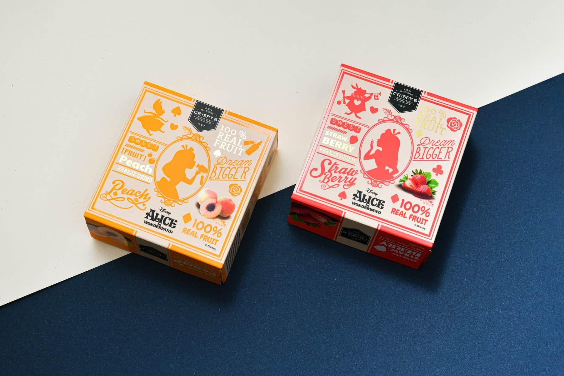 CRISPY 6 Alice in Wonderland Freeze-Dried Fruit Package design