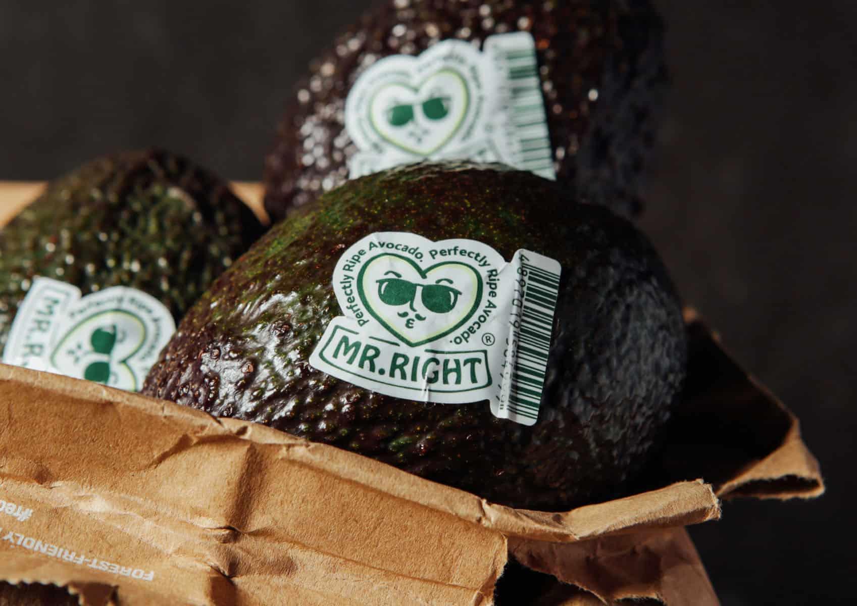 Mr. Right   Perfectly Ripe Avocado   Branding design