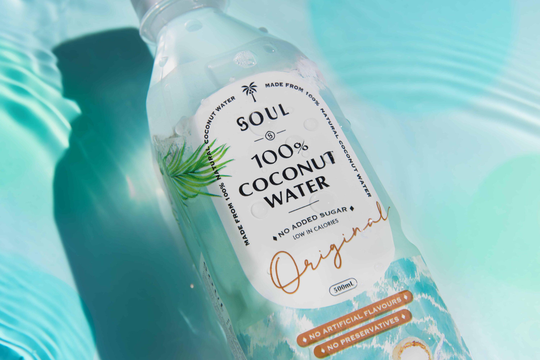 SOUL 100% Coconut Water   Branding & Package Design